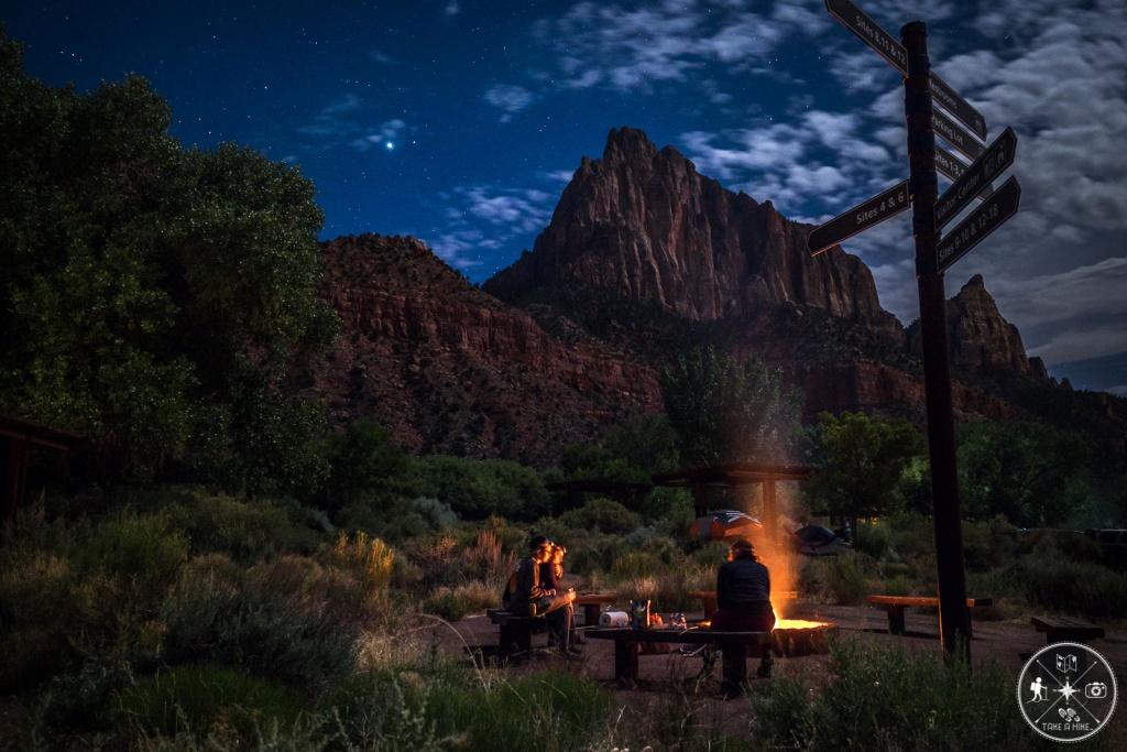 Watchman Campground bei Nacht