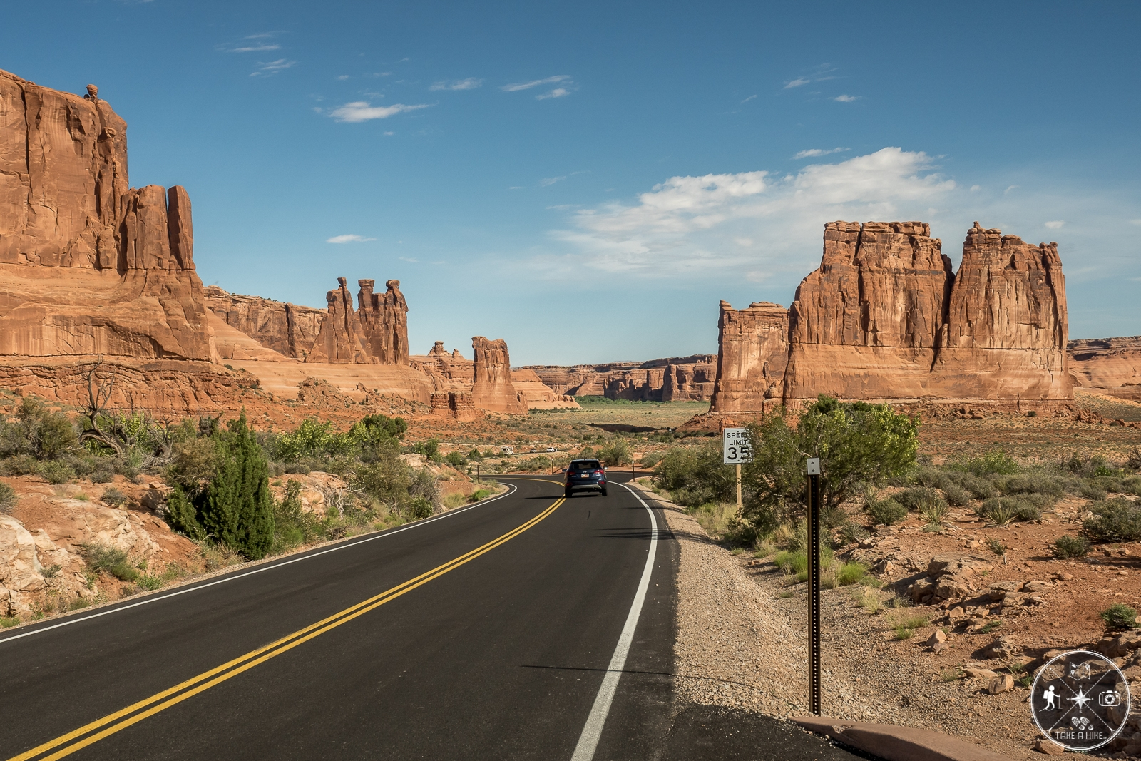 "Arches NP Scenic Drive - Blick auf ""The Organ"""