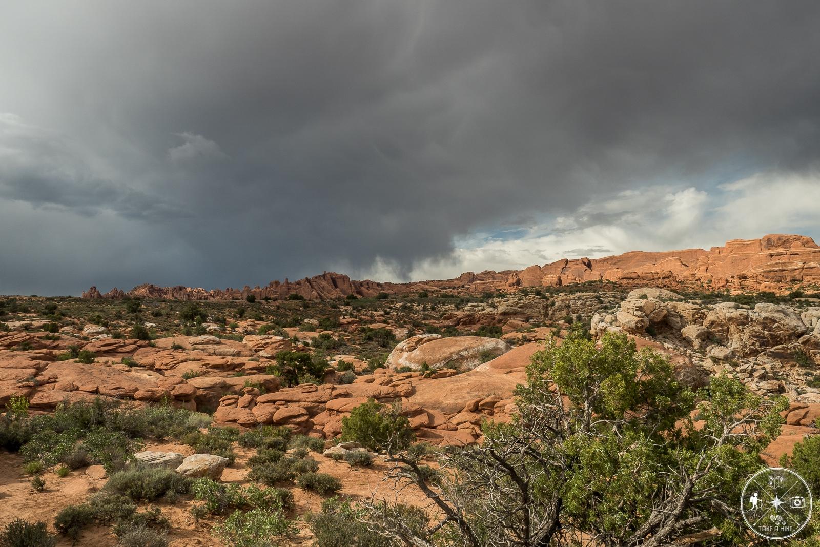 Gewitterwolken über dem Fiery Furnace