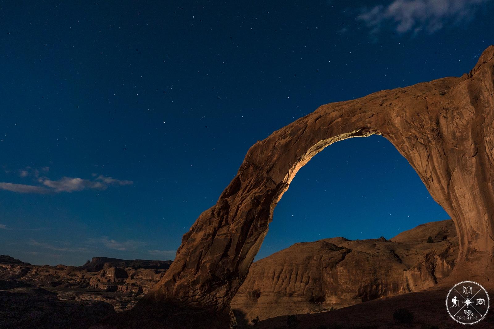 Corona Arch im Mondschein