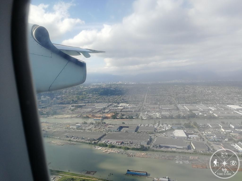 Im Anflug auf Vancouver